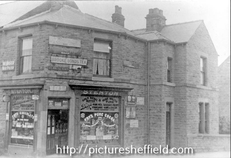 Photo of Stenton's Grocer's shop, No. 1, Blakeney Road, Crookes. (Ref No. t02342), Picture Sheffield.