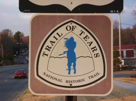 Photo of the Trail of Tears sign.