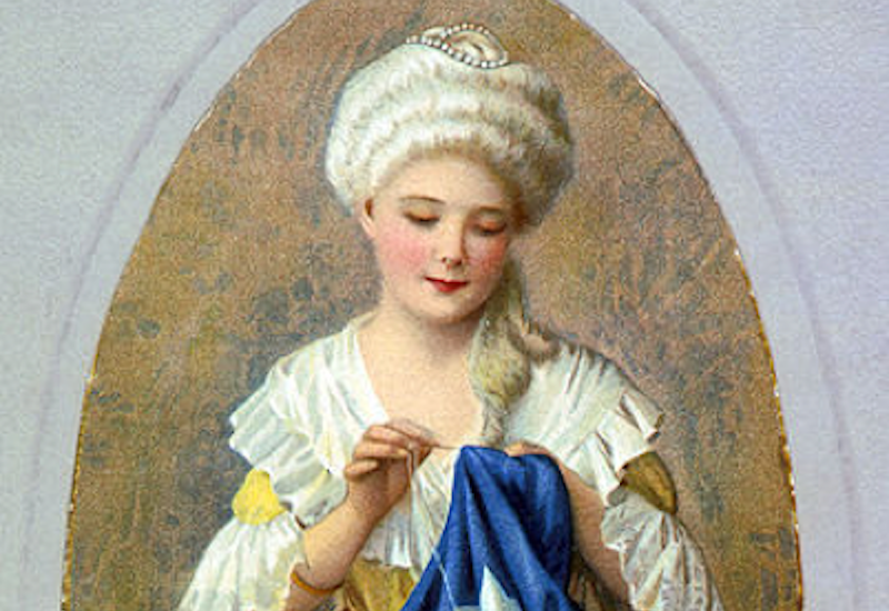 Painting of Betsy Ross, Mother of America.